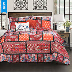 Lush Decor 5-Piece Meridian Quilt Set