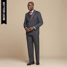 Stacy Adams Men's Double-Breasted Suit Set