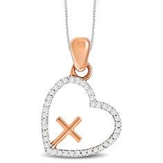 Diamond Heart & Cross Pendant 1/10 ct. tw. (Women's)