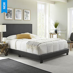 Aries Queen Faux Leather Platform Bed
