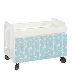 Sauder Pinwheel Rolling Toy Box