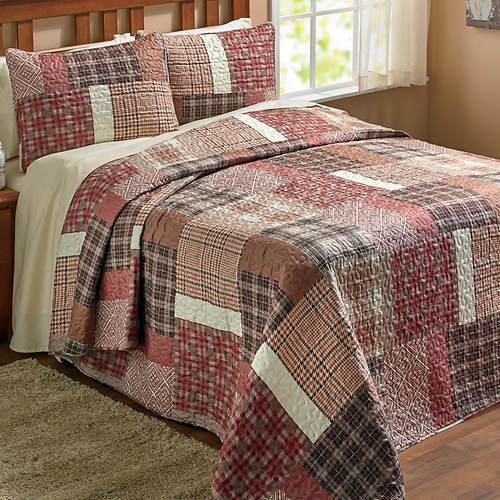 Orla Plaid 3-Pc. Bedspread Set