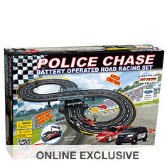 Golden Bright Battery-Operated Police Chase Road Set