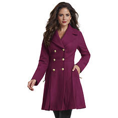 Fit-And-Flare Peacoat