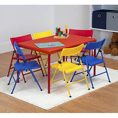 Cosco 7-Piece Kids Folding Chair & Table Set