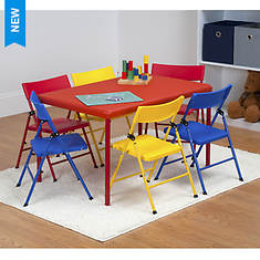 Cosco 7-Piece Kids Folding Chair & Table Set