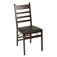 Cosco 2-Pack Wood Folding Chair with Ladder Back