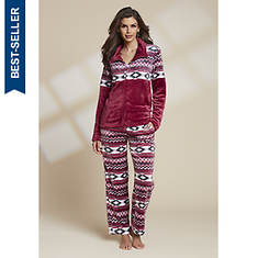 Women's Aztec Plush Pajama Set