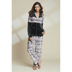 Women's Aztec Plush Pajama Set