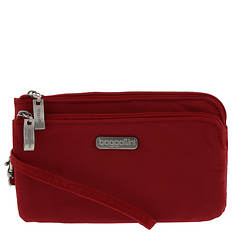Baggallini RFID-Blocking Double Zip Wristlet