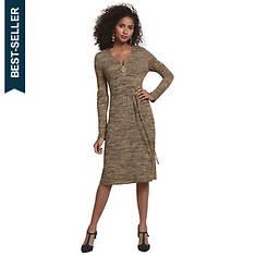 Heathered Zip-Up Knit Dress