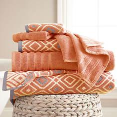 Oxford Jacquard 6-Pc. Towel Set