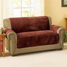 Embossed  Reversible Sherpa Furniture Cover-Sofa