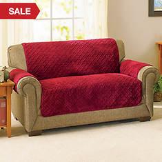 Embossed Reversible Sherpa Furniture Cover-Loveseat