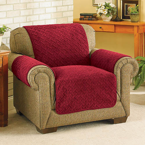 Out Of Stock Furniture: Embossed Reversible Sherpa Furniture Cover-Recliner
