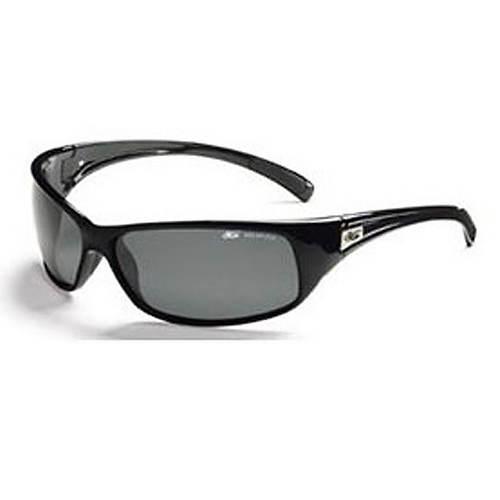 Sport Recoil Shiny Black Sunglasses