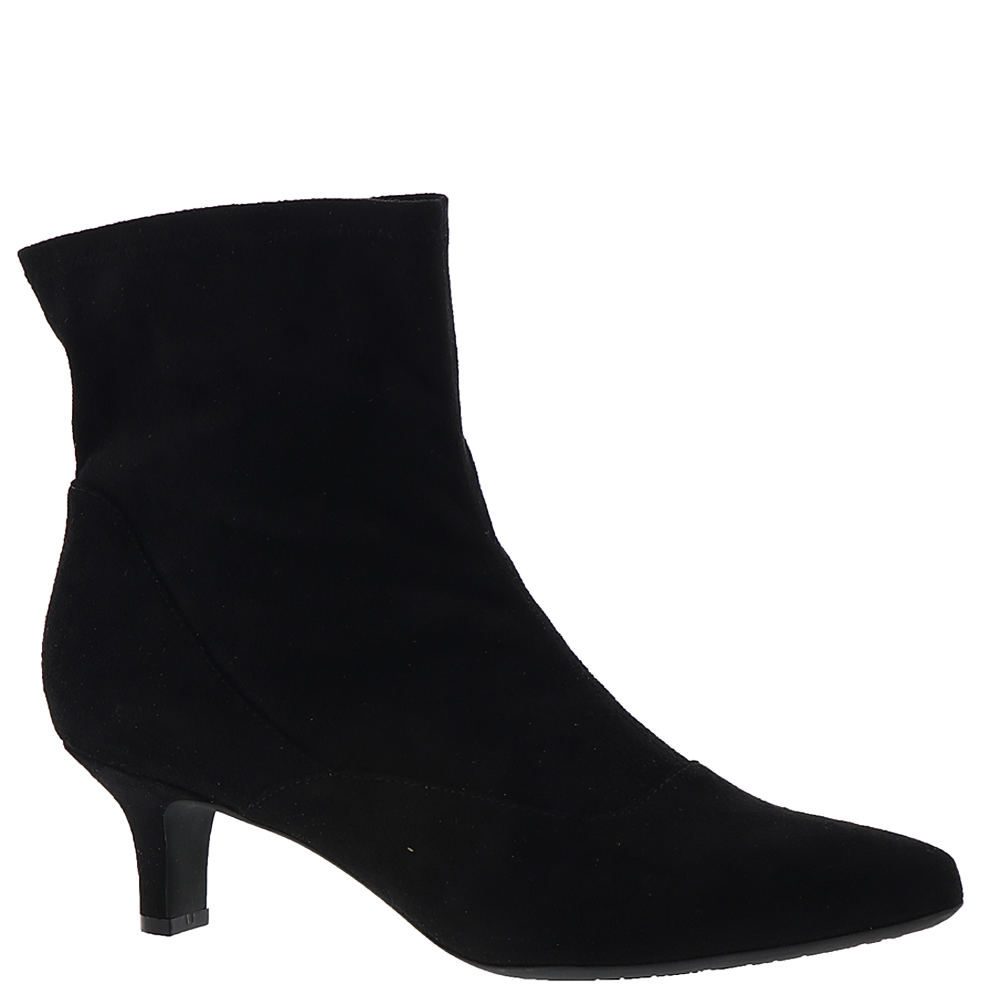 1950s Style Shoes | Heels, Flats, Saddle Shoes Rockport Kimly Stretch Bootie Womens Black Boot 9.5 W $89.95 AT vintagedancer.com