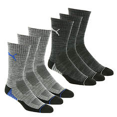 PUMA Men's P111961 Crew 6-Pack Socks