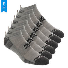 Skechers Men's S111392 No-Show 6-Pack Socks