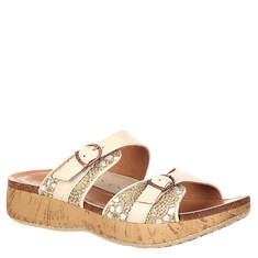 4EurSole Golden Day 2-Strap Wedge Slide (Women's)