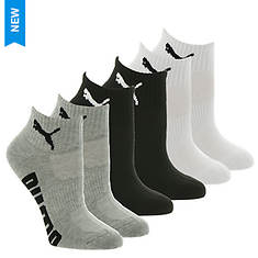 PUMA Women's P112201 Quarter 6-Pack Socks