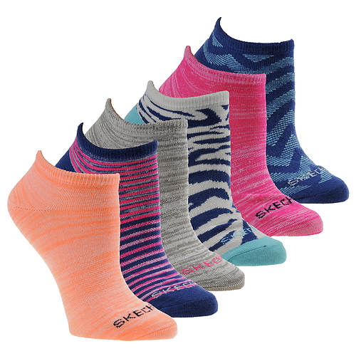 Skechers Women's S111028 No Show 6-Pack Socks