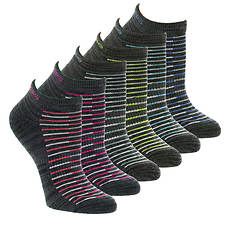 Skechers Women's S108233RR Low-Cut 6-Pack Socks