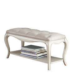Hillsdale Furniture Angela Bed Bench with Tufted Top