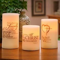 3-Pc. LED Inspirational Candle Set