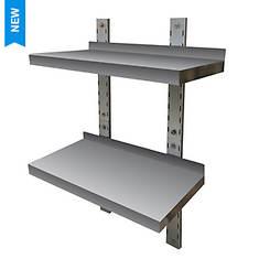 Sportsman Series Stainless Steel Double-Wall Mount Shelf
