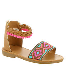 Baby Deer Aztec Print Sandal w/Pom Pom (Girls' Infant-Toddler)