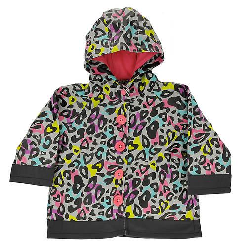 Western Chief Girls' Groovy Leopard Raincoat