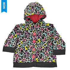 Western Chief Girls' Groovy Leopard Raincoat
