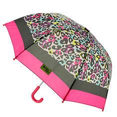 Western Chief Girls' Groovy Leopard Umbrella