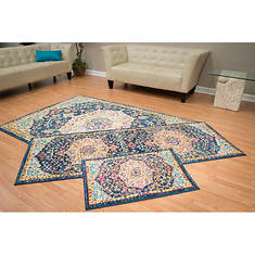 Abigail 3-Piece Vintage Collection Rug Set