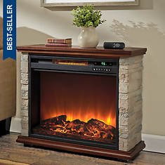 Lifesmart 1500-Watt Polystone Electric Fireplace