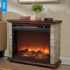 Lifesmart 1500-Watt Polystone Electric Fireplace - Opened Item