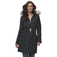Women's Belted Puffer Coat
