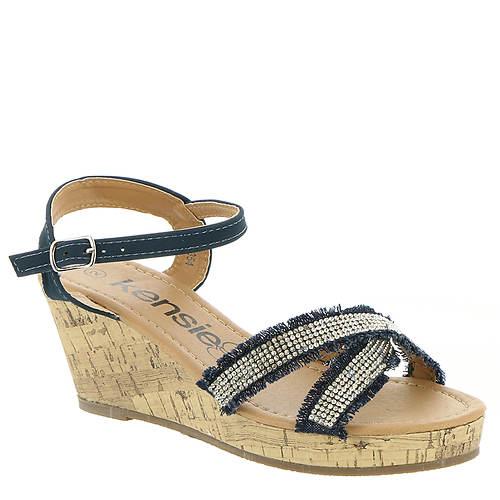 KensieGirl Denim Wedge Sandal (Girls' Toddler-Youth)