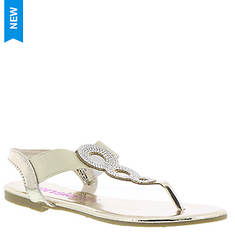 KensieGirl Rhinestone Thong Sandal KG74408M (Girls' Toddler-Youth)