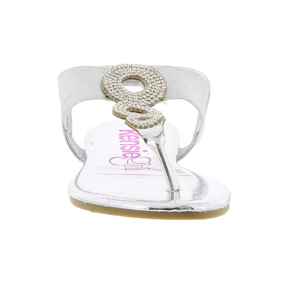 ee8b010f567 KensieGirl Rhinestone Thong Sandal KG74408M Girls  Toddler-Youth ...