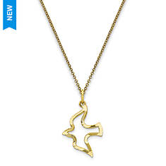 10K Dove Necklace with 18