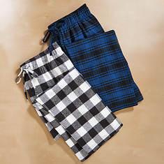 Men's 2-Pack Flannel Pants