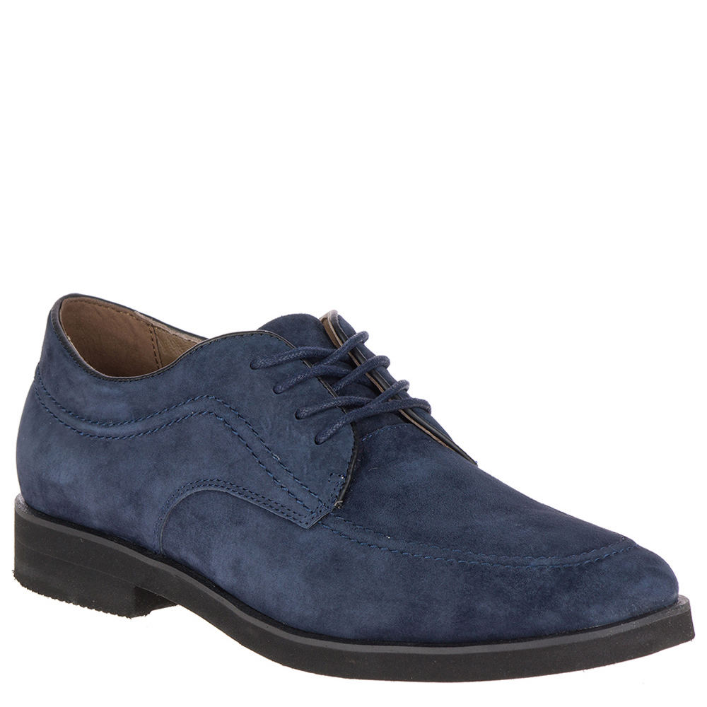 Men's 1950s Shoes Styles- Classics to Saddles to Rockabilly Hush Puppies Bracco MT Oxford Mens Navy Oxford 11.5 M $99.95 AT vintagedancer.com