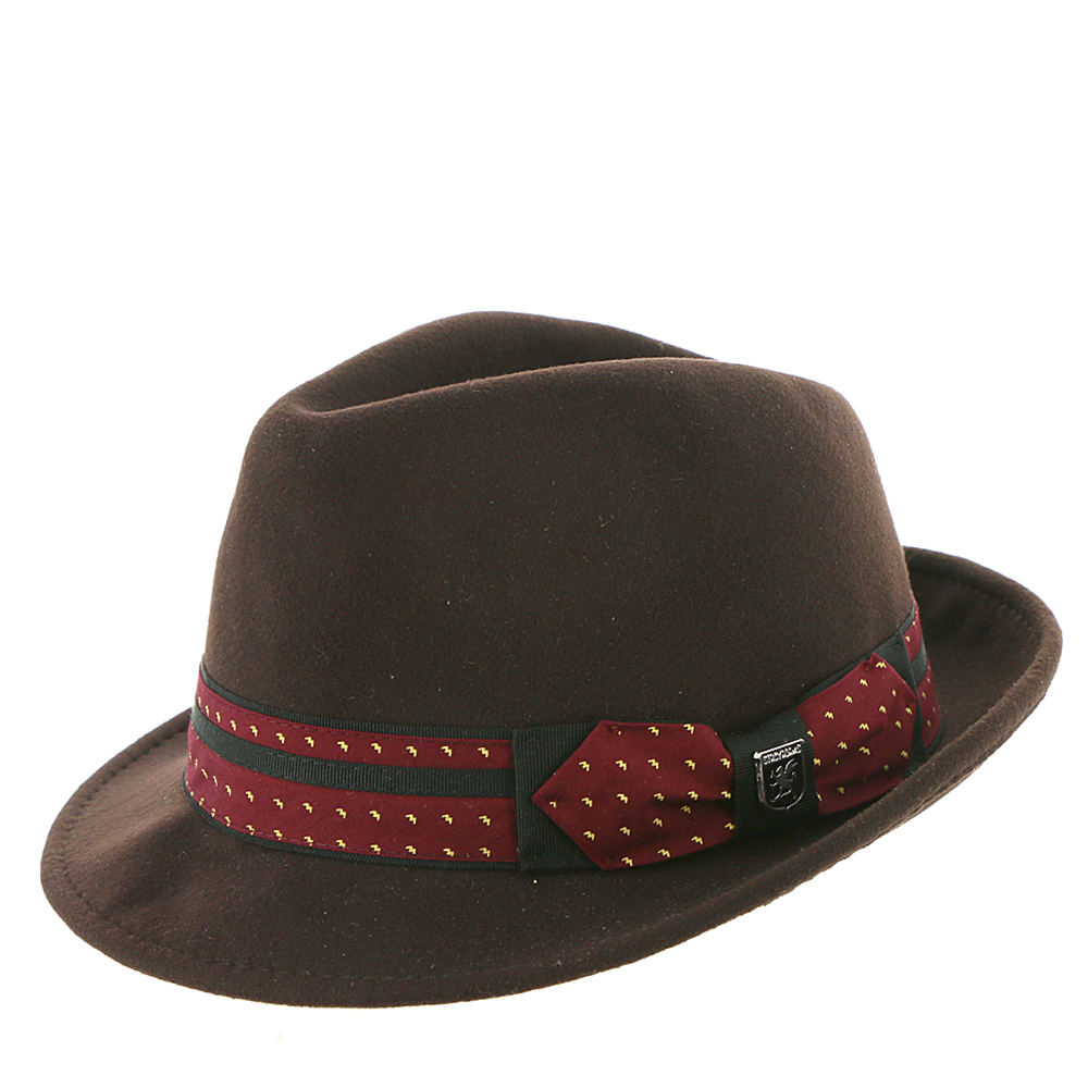 1960s – 70s Style Men's Hats UltraFelt Pinch Front Fedora Brown Hats XL $44.95 AT vintagedancer.com