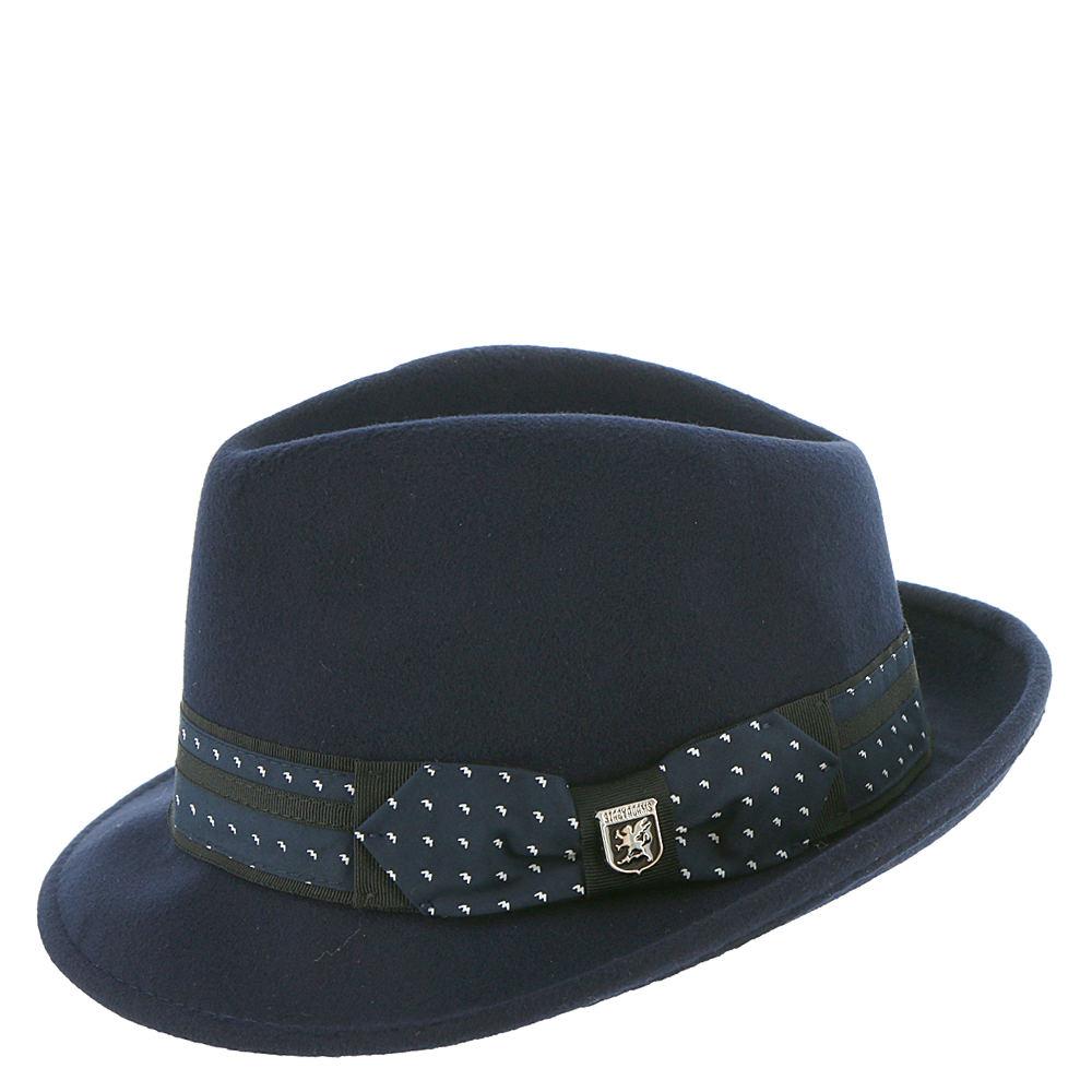 1960s – 70s Style Men's Hats UltraFelt Pinch Front Fedora Navy Hats XL $39.95 AT vintagedancer.com