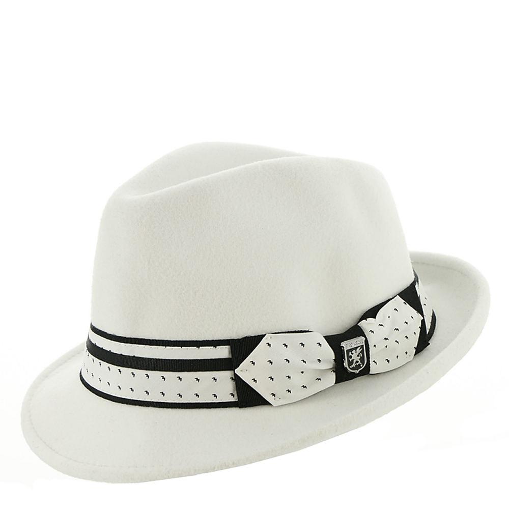 1960s – 70s Style Men's Hats UltraFelt Pinch Front Fedora White Hats L $39.95 AT vintagedancer.com