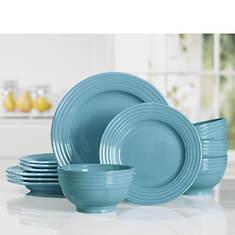 Gibson Plaza Café 12-Piece Stoneware Dinnerware Set