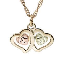 Black Hills Gold Double Heart Necklace (Women's)