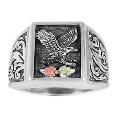 Black Hills Gold Oxidized Eagle Ring (Men's)